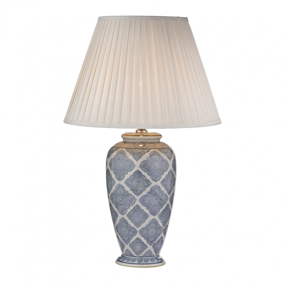 Ely Ceramic Pale Blue Table Lamp